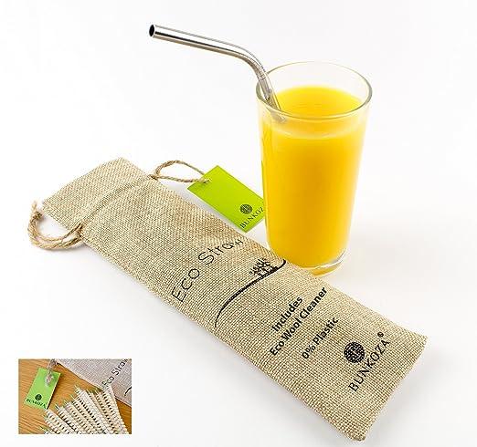 7 opinioni per BUNKOZA® Cannucce Eco- Acciaio Cannuccia Premium Grip con Cleaner Confezione da