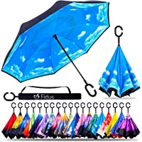 Fidus Double Layer Inverted Reverse Umbrella with C-Shaped Handle (Several Colors)