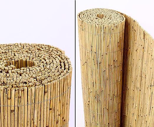 bambus-discount.com Beach - Rollo de caña de bambú para Valla de privacidad (160 x 600 cm): Amazon.es: Jardín
