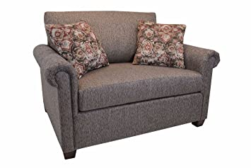 Amazon.com: Common Home CH0172 Twin Sleeper Chair, Brown ...
