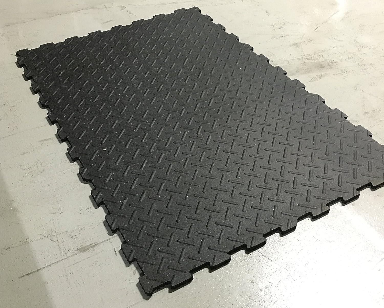 Amazon Com Interlocking Rubber Mat Flooring 4 X 6 X 3 4
