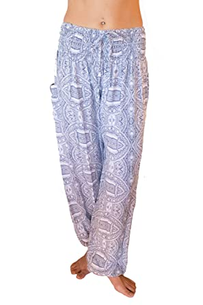 d3b403ddf243b Pi Yoga Pants Women's Boutique Lounge and Bohemian Yoga Pants, Scrunched  Bottom (Stretches from