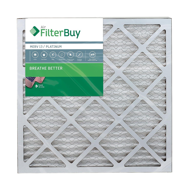 FilterBuy 18x22x1 MERV 13 Pleated AC Furnace Air Filter, Platinum 18x22x1 Pack of 4 Filters
