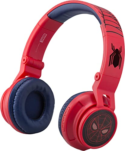 Marvel Spiderman Far from Home Kids Bluetooth Headphones Wireless with Built-in Microphone Detachable Cord