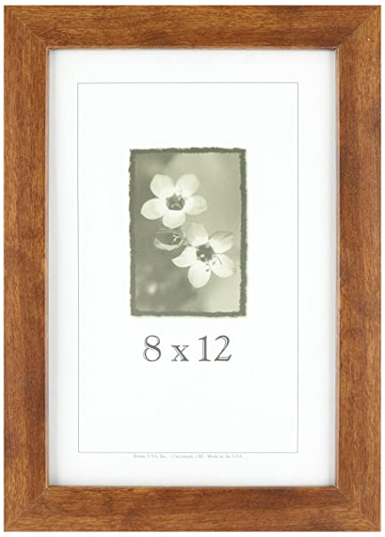Amazoncom 8x12 Wood Picture Frame Canadian Walnut Made In The