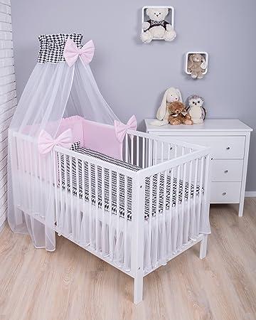 40x60 cm Bettset Kinderbettw/äsche Amilian/® Baby Bettw/äsche Design:P/ünktchen GRAU Gr/ö/ße 100x135 cm