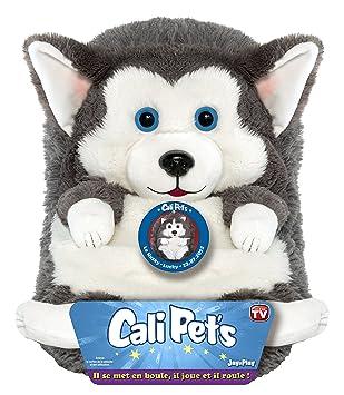 Cali Pets - Peluche Husky, 35 cm (Dujardin 22105)
