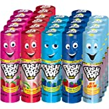 Push Pop Candy Assortment in Bulk 24 Pack – Blue Raspberry, Watermelon, Strawberry, Cotton Candy & Mystery Flavors