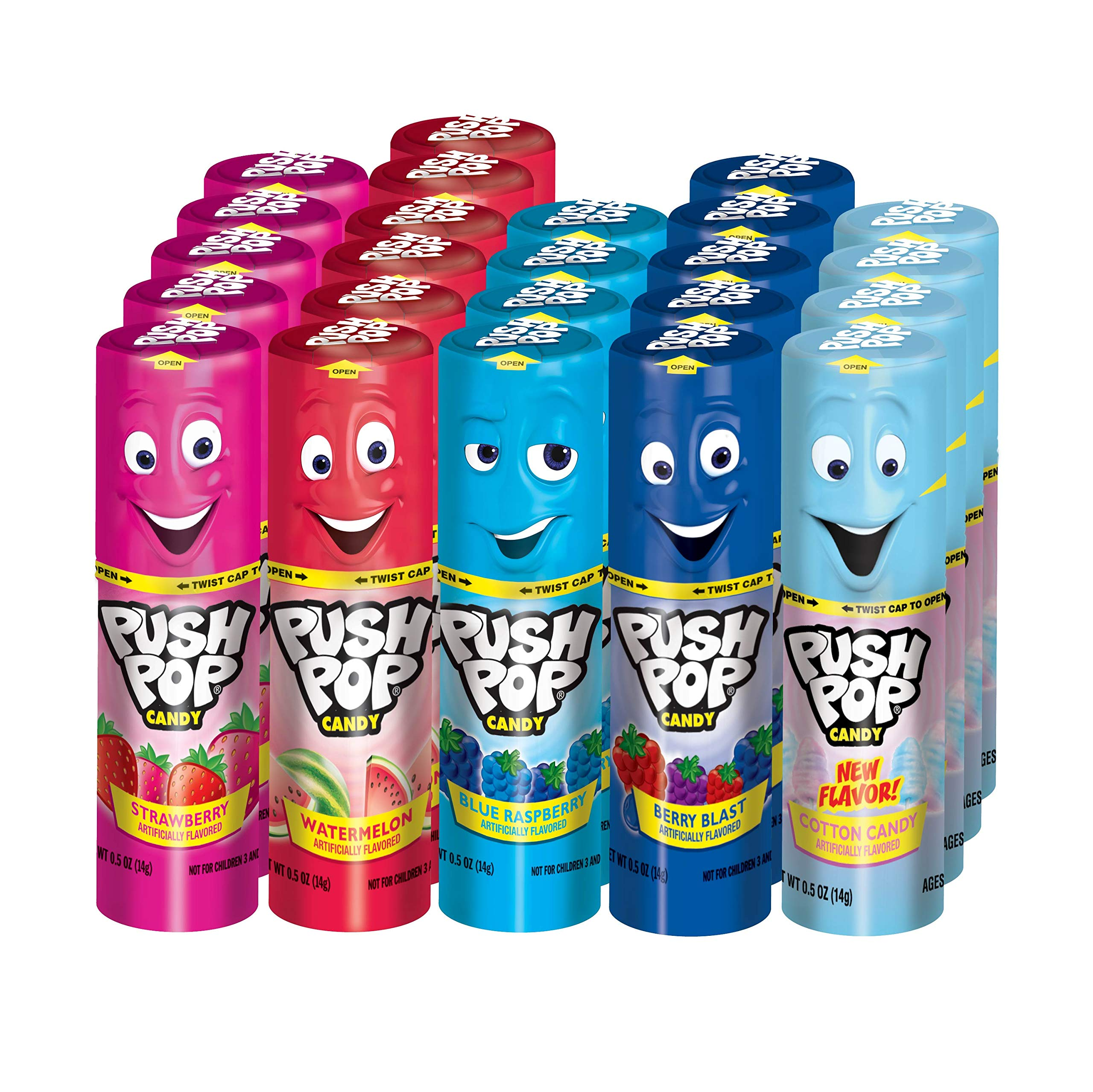 Push Pop Candy Assortment in Bulk, 12 Ounce (Pack of 24)