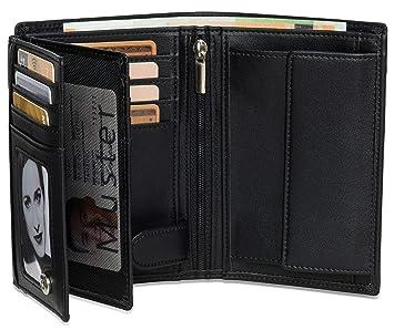 0e27fca280d927 Geldbeutel Hochformat - 15 Kartenfächer TÜV geprüft - RFID Schutz – Großes  Münzfach - Ideal als