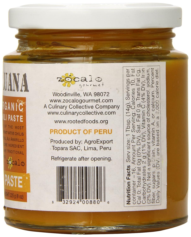 amazon com zócalo peru organic aji panca paste 8 ounce chile