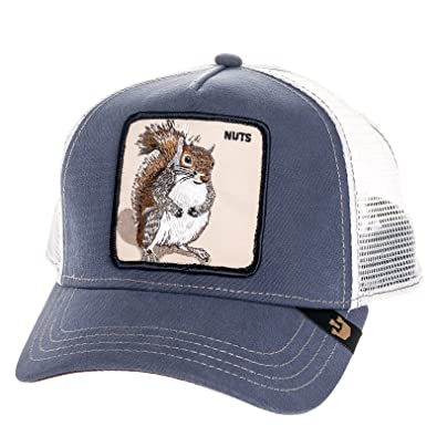 Image Unavailable. Image not available for. Color  Goorin Bros Mens Nutty  Squirrel Patch Trucker Cap Hat (Blue) c03ab8af0678