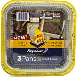 Reynolds Bakeware Pans with Lids (Non-Stick, 8x8 inch, 3 Count)