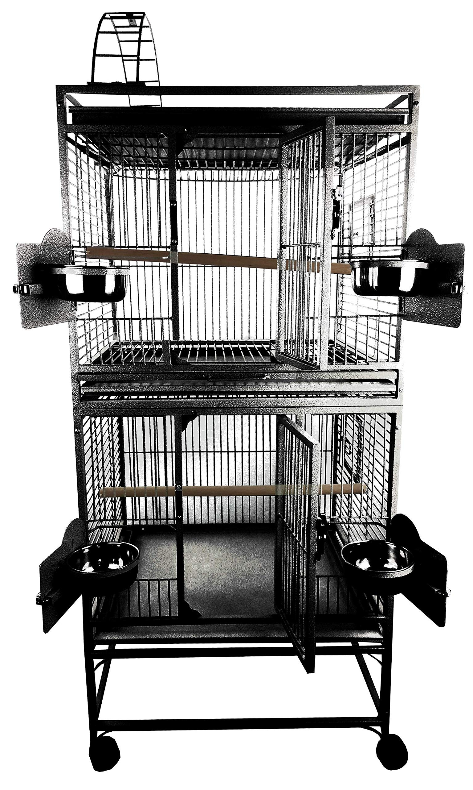 24''x22'' Double Stack Cage with Play Top Metal by A&E Cage Company