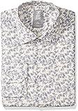 "STACY ADAMS 男式 Vine Pixel 印花现代修身衬衫 黄色(Oatmal) 16"" Neck 34-35 Sleeve"