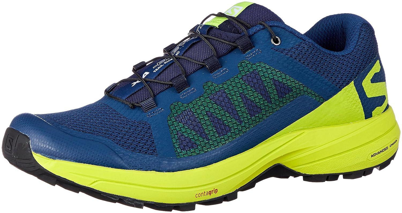 Salomon XA Elevate, Zapatillas de Trail Running para Hombre 40 EU|Azul (Poseidon/Lime Green/Black 000)