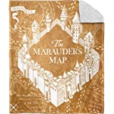 """Harry Potter School Map Silk Touch Sherpa Throw Blanket, 50"""" x 60"""""""