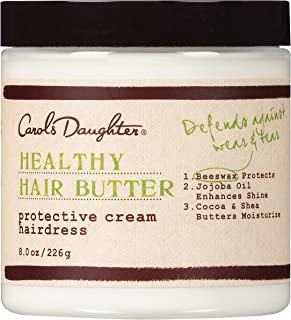 product image for Carol's Daughter Healthy Hair Butter Protective Cream Hairdress Curl Cream with 7 Essential Oils Shea Butter and Cocoa Butter 8 Ounce for Dry Hair and Scalp, 8 oz
