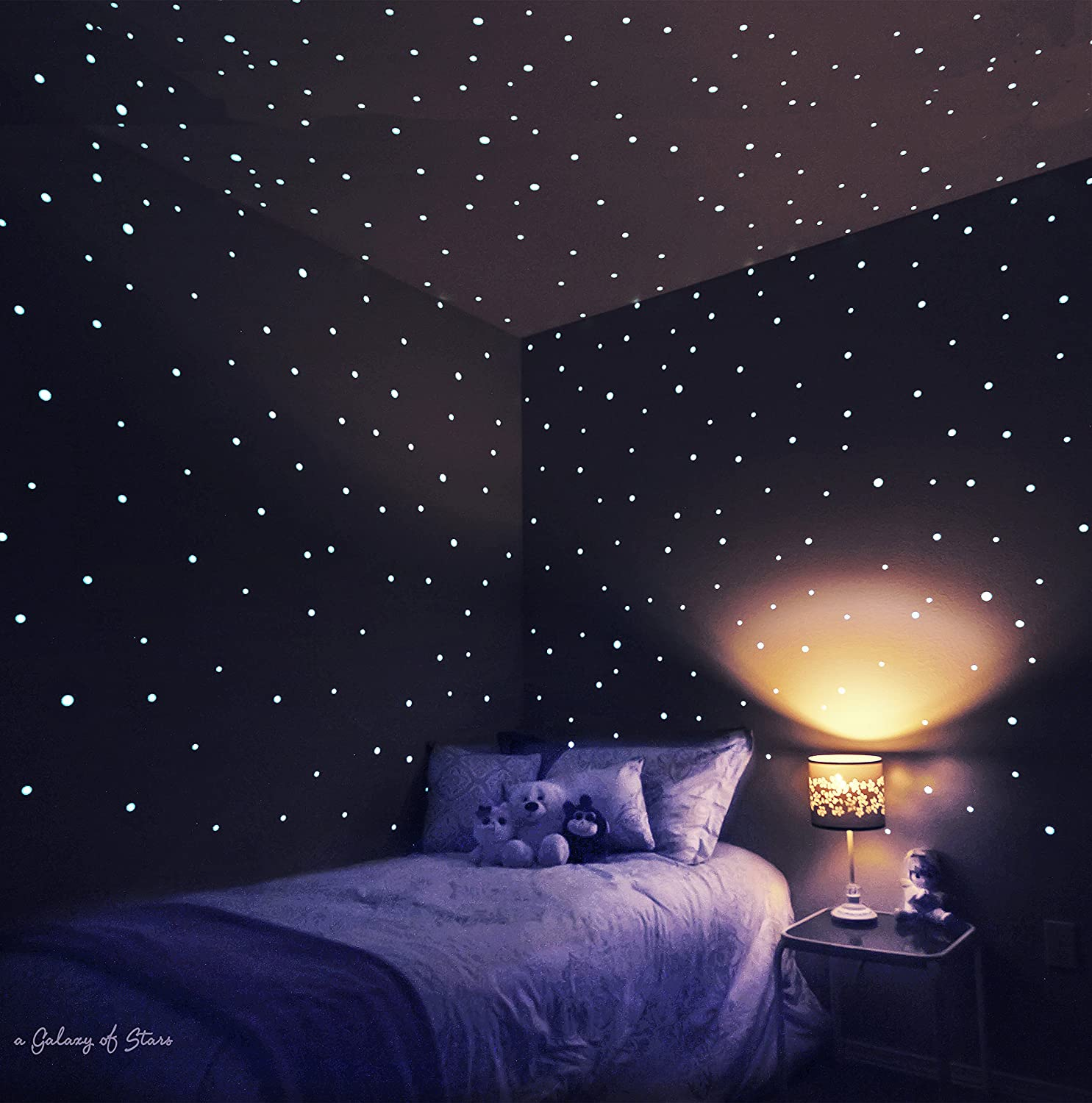 Amazon.com: Glow in the Dark Stars Stickers- Easy Peel & Stick ...