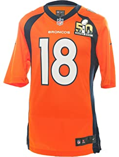 Nike NFL Superbowl 50 Peyton Manning Denver Broncos Jersey - Brilliant  Orange - f3c767a6f