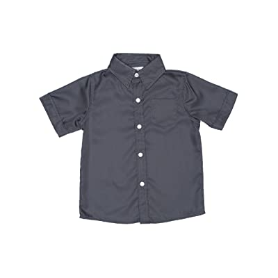 2-Cute Designs Little Boys-Short Sleeve Dress Shirt