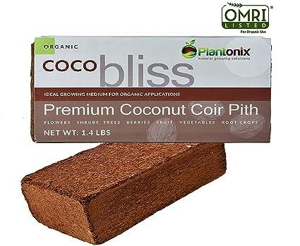 Plantonix Coco Coir Brick, OMRI Listed for Organic Use (1)