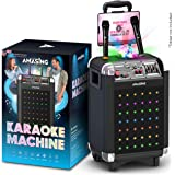 Karaoke Machine for Adults and Kids, Bluetooth Portable Singing PA Speaker System + 2 Wireless Dual Microphones + Disco…