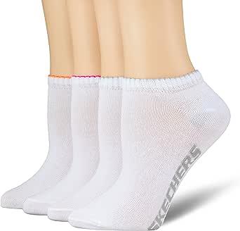 Skechers Socks Calcetines deportivos (Pack de 4) para Mujer: Amazon.es: Ropa y accesorios