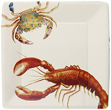 Michel Design Works Lobster Dinner Square Paper Plates 8 Count  sc 1 st  Amazon.com & Amazon.com: Michel Design Works Lobster Dinner Square Paper Plates ...