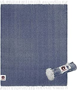 NCAA 60 X 50 Inch Woven Cotton Tailgate Throw Blanket (Auburn Tigers - Team Color)