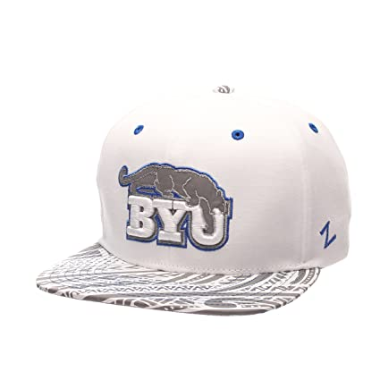df2b8749662 Amazon.com   ZHATS NCAA BYU Cougars Men s Lahaina Snapback Cap ...