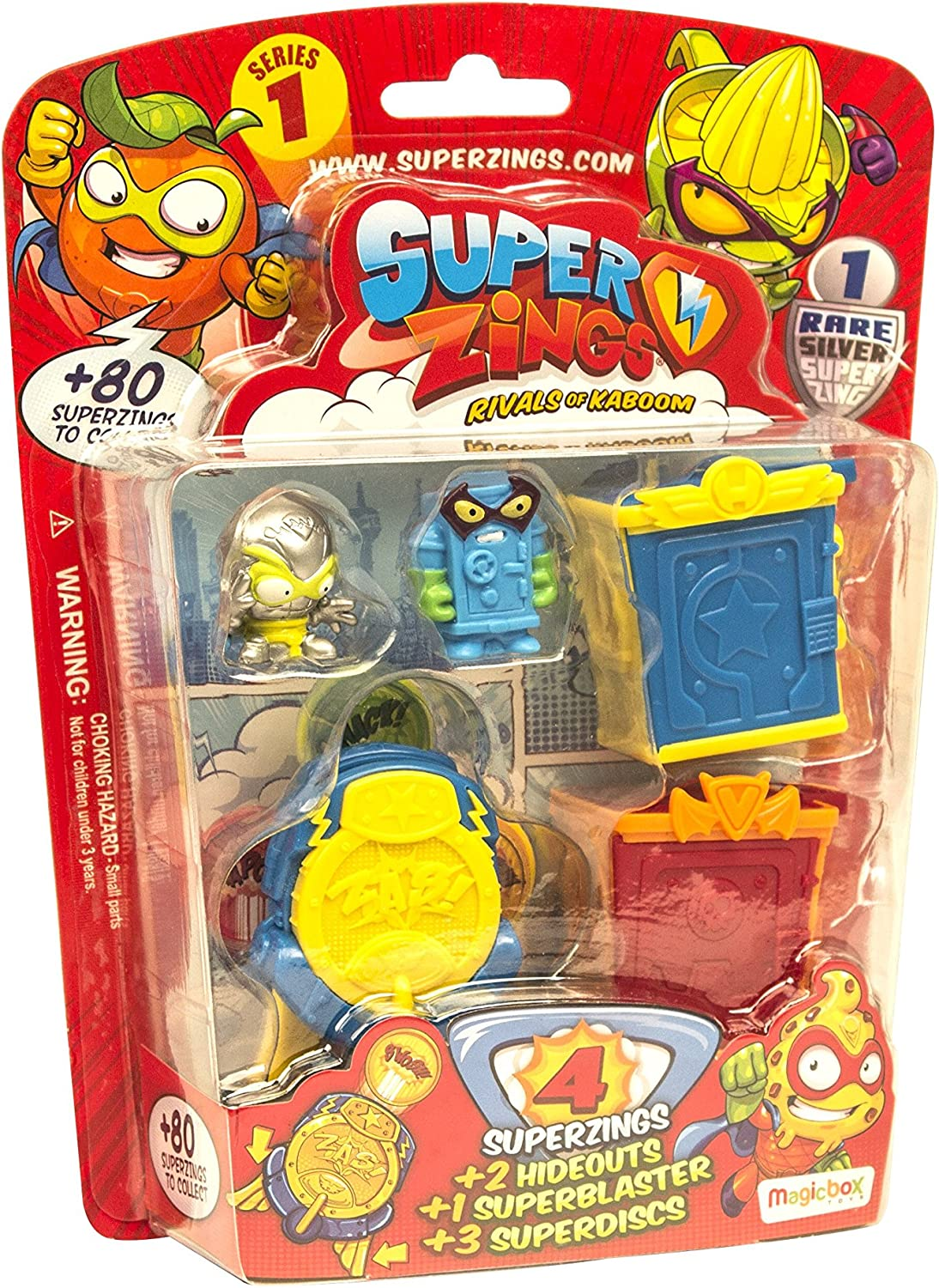Superzings- Rivals of Kaboom Blíster Hideout, Color surtidos (Magic Box Int Toys SZ1P0600): Amazon.es: Juguetes y juegos
