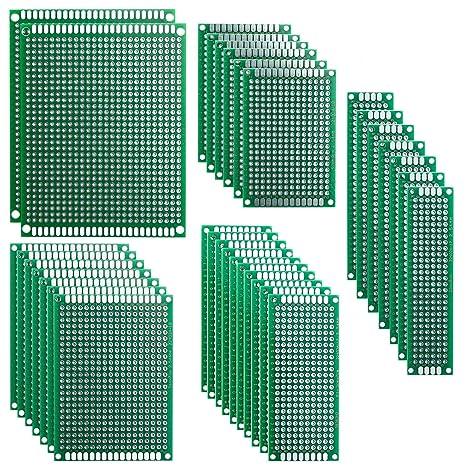 Placas de circuitos, Elegoo, 32 unidades, doble cara, PCB, equipo de