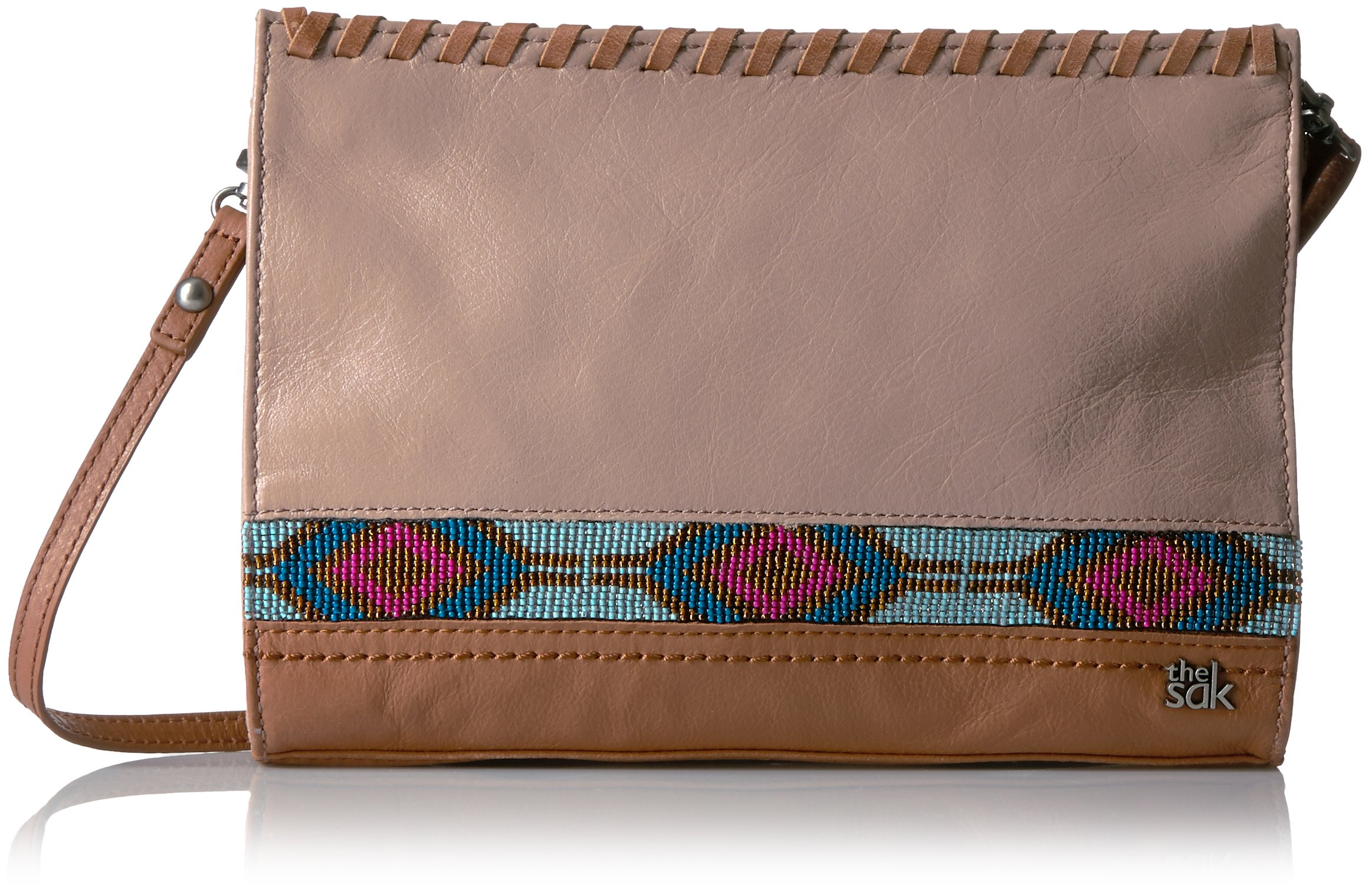 The Sak Iris Demi Clutch, Mocha Beaded