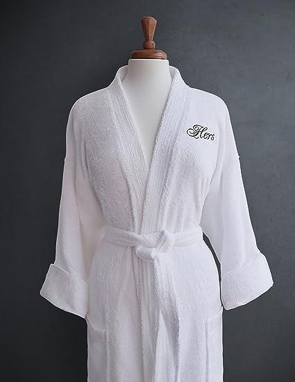 Luxor Linens Terry Cloth Bathrobes Egyptian Cotton Bathrobe Luxurious Soft Plush Durable