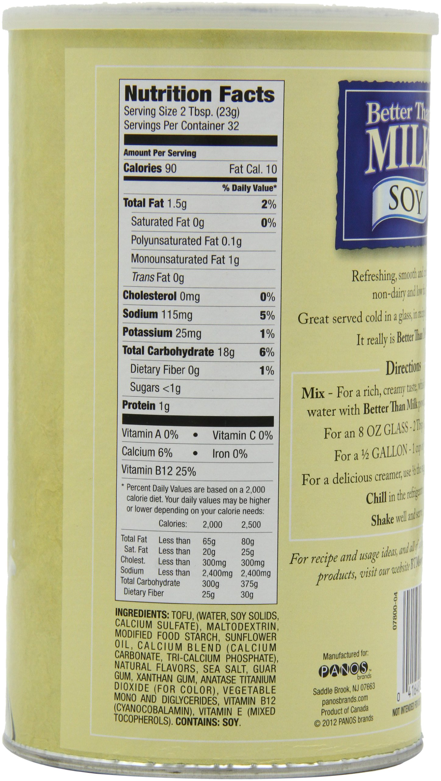 Better Than Milk Vegan Soy Powder, 25.9-Ounce Canisters (Pack of 2) by Better Than Milk (Image #2)