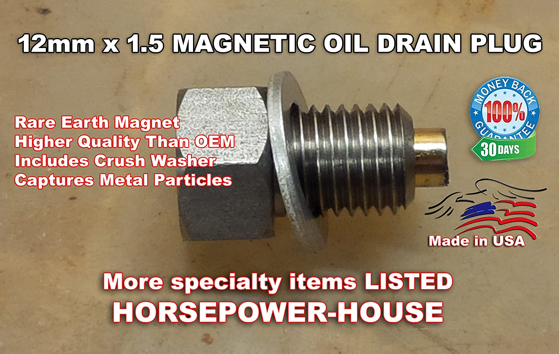 12mm 1.5 MAGNETIC OIL DRAIN PLUG BOLT /& CRUSH WASHER @ many Honda DIRTBIKE QUAD