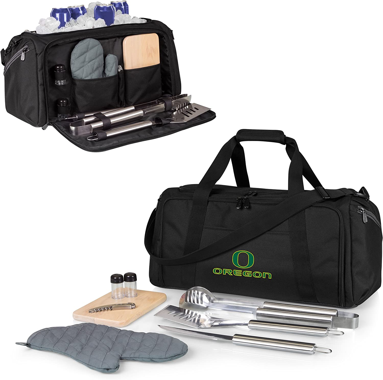 PICNIC TIME NCAA Unisex BBQ Kit Cooler Tote with Barbecue and Picnic Accessories