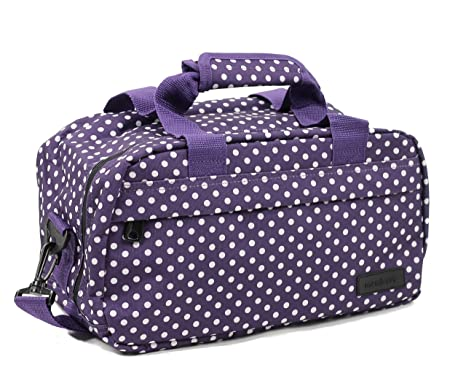 Members - Sac secondaire cabine essentiel conforme Ryanair 35 x 20 x 20cm - 35 x 20 x 20 cm - 0.5kg, Rouge & pois blancs