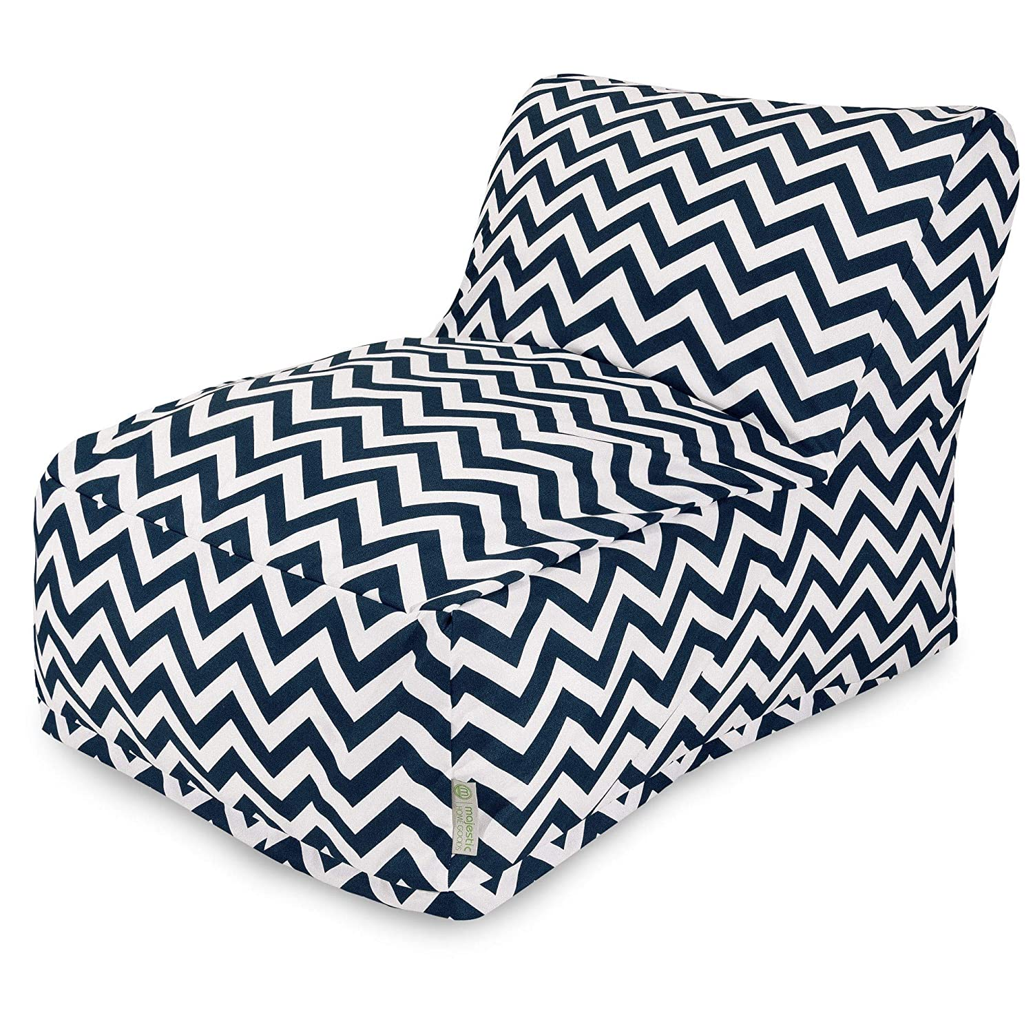Terrific Majestic Home Goods Chevron Bean Bag Chair Lounger Navy Machost Co Dining Chair Design Ideas Machostcouk