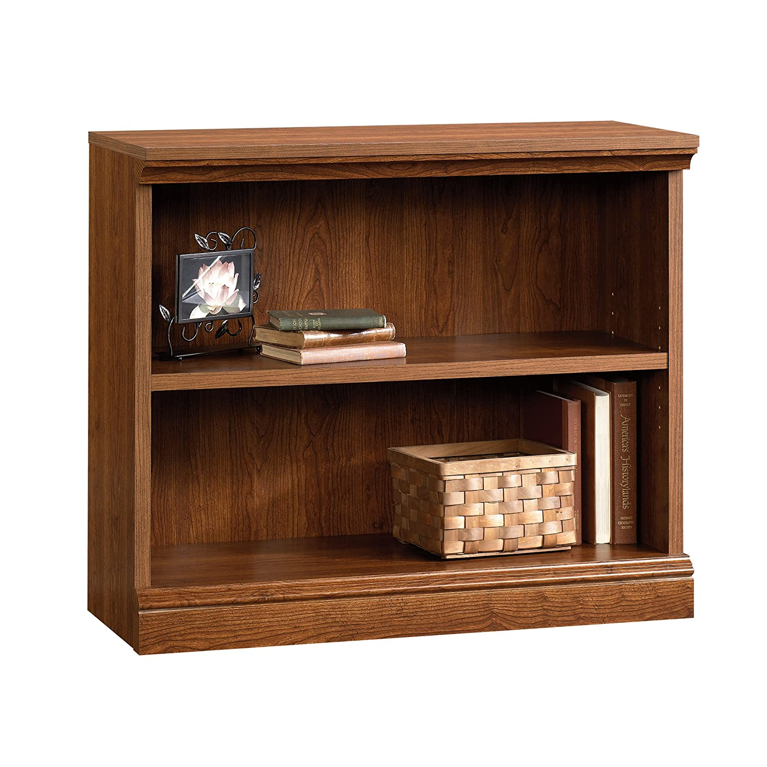 Sauder Camden County 2-Shelf Bookcase, Planked Cherry 101782