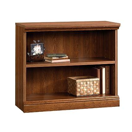 Sauder Camden County 2 Shelf Bookcase, Planked Cherry