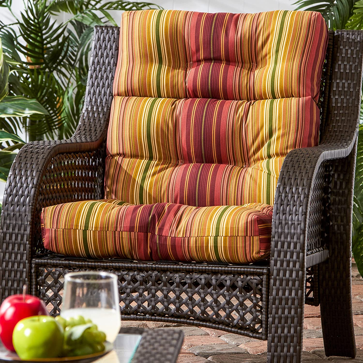 amazon com greendale home fashions indoor outdoor high back chair