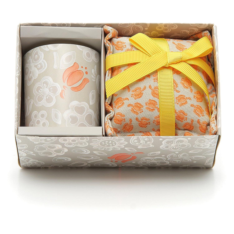 THUN Everyday Set Candela Piccola + Cuscino Grande Tulip, Ceramica, Variopinto C1918P96