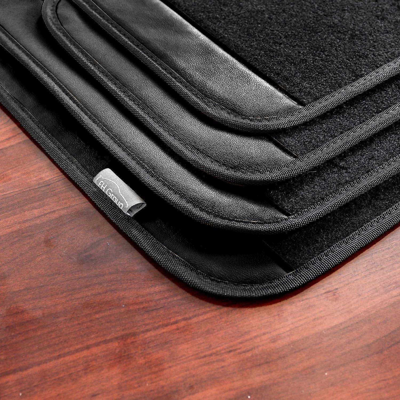 FH Group F14407BLUE Premium Full Set Carpet Floor Mat Sedan and SUV with Driver Heel Pad Blue