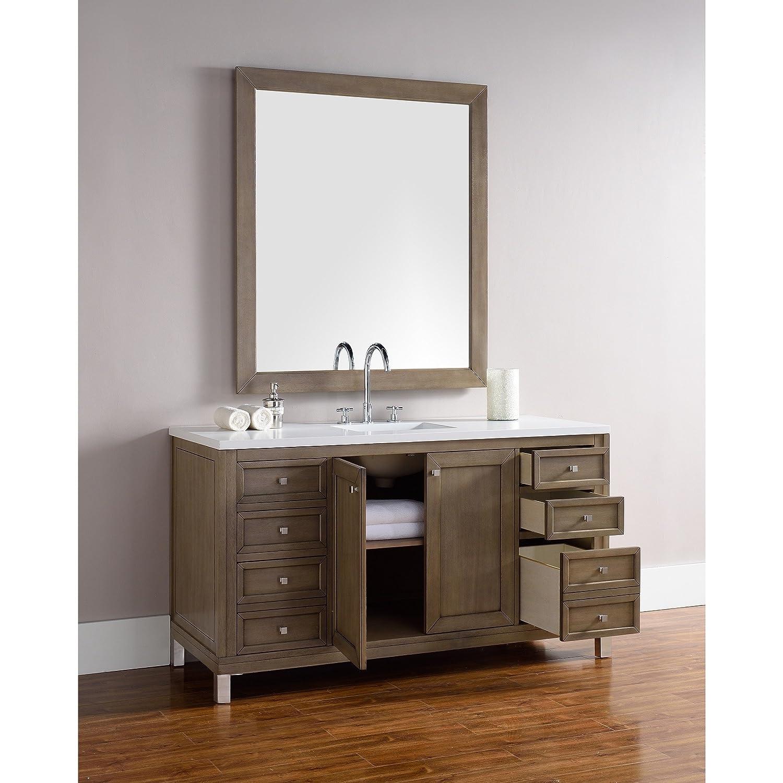 60 in. Single Vanity in White Washed Walnut Finish - - Amazon.com