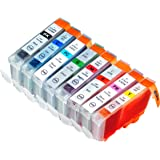 8 Pack Compatible Canon CLI-8 1 Green, 1 Cyan, 1 Photo Cyan, 1 Photo Magenta, 1 Magenta, 1 Red, 1 Yellow, 1 Small Black for use with Canon Pixma Pro 9000, Pixma Pro 9000 Mark II (Mark 2). Ink Cartridges for inkjet printers. CLI-8BK , CLI-8C , CLI-8GR , CLI-8M , CLI-8PC , CLI-8PM , CLI-8R , CLI-8Y © Blake Printing Supply