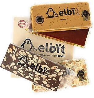 Elbit® - Lote turrones Artesanos Calidad Suprema | Turrón blando, turrón duro, turrón