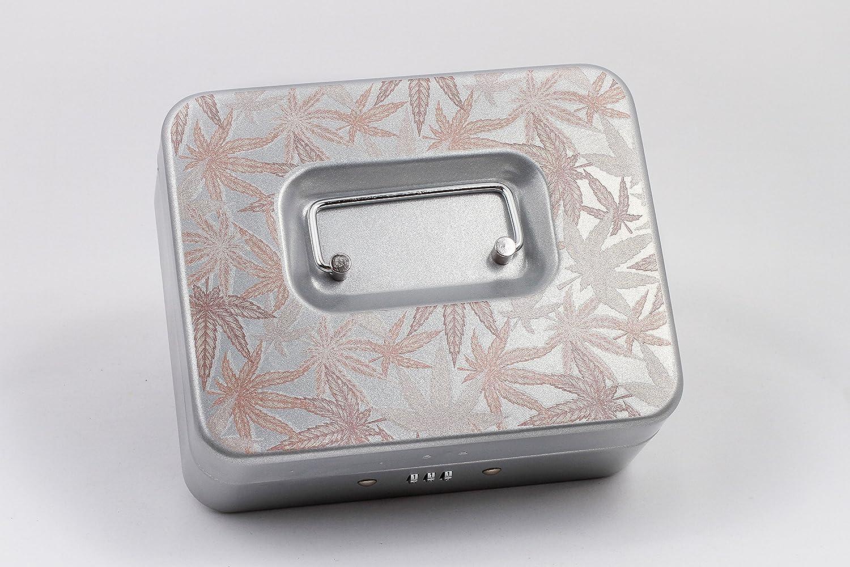 Marijuanaストレージロックボックス – ローズゴールドCannabis / Largeシルバー B078WF7TFH