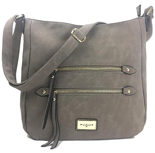 4e8ee3ffd894 Handbags for Ladies Cross Body Messenger Bag Shoulder Bag in faux Suede Nu  Buck Leather.
